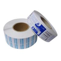 custom paper adhesive labels for glass bottle,Paper material adhesive label on roll forms made in China for sale