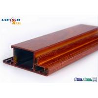 Quality Wood Grain Surface AA6063 T5 Aluminium Extrusions Profiles For Door / Windows for sale
