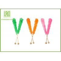 Quality Fashion Rock Candy Swizzle Sticks , Bamboo Lollipop Sticks Bulk Placking for sale