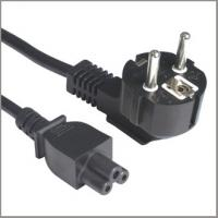 Quality Laptop power supply cord, Euro cord set with schuko and C5 plug for sale