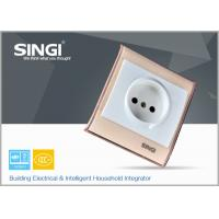 Quality Europe standard 1gang electrical Wall Switch Socket with red plate for sale