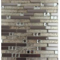 Quality Mix Colored Metallic Subway Tile Backsplash , Interlocking Metallic Kitchen Tiles for sale