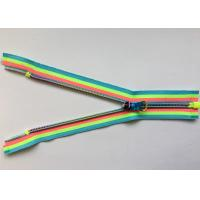 Rainbow Coloured Cotton Webbing Straps Gradient Teeth Zipper With Original for