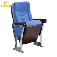 Quality ABS Armrest Strong Aluminum Base Auditorium Chair With Writing Pad for sale