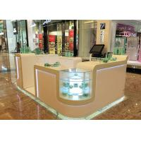 Quality White Cosmetic Display Case Modern Style Small Space For Shopping Mall Display for sale