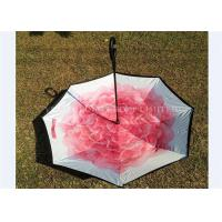 Quality Custom Printing Reverse Folding Umbrella Opens Upside Down Promotional Use for sale