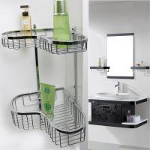 OEM Hotel Bathroom Corner Shelf Bathroom Fittings No Assembly