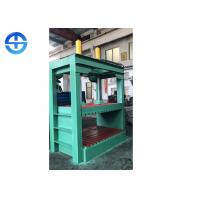 China 11 KW PLC Hydraulic Paint Bucket Flattening Scrap Metal Compactor Machine on sale