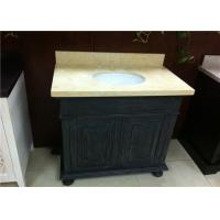 Buy cheap Absolute Black Bathroom Vanity Cabinet With Sunny Beige Marble Top from wholesalers