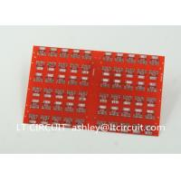 Quality Red LPI Solder Mask Double Sided PCB 0.8mm Lead Free HASL White Silkscreen for sale