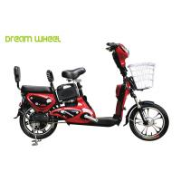Quality Red Lady & Child Power Assisted Bicycle 16 Inch Wheel Pedal Electric Bike for sale