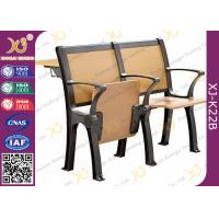 Quality Wood Board Aluminum Alloy Frame College Classroom Tables And Chairs for sale