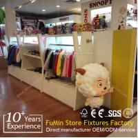 Buy Colorful plywood children clothes display shelf for kids store at wholesale prices