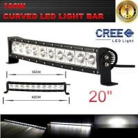 Quality Single Row 20-Inch 9000lm 100W  Curved Cree LED Offroad Light Bar 4WD Boat UTE Driving ATV for sale