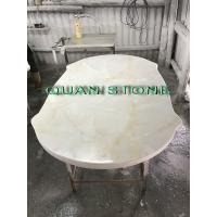 Quality Custom Bathroom Vanity Tops / Marble Vanity Countertops Lightweight And High Strength for sale