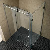 Buy Simple Painting Tempered Glass Sliding Bathroom Shower Enclosure at wholesale prices