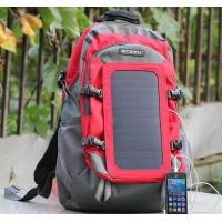 Buy Solar Powered Hiking Backpack / Solar Battery Backpack For Mobile Phones at wholesale prices