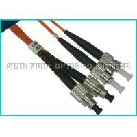 Buy cheap FC - ST Multimode Fibre Optic Patch Leads OM2 Full Metall Body APC Polish from wholesalers