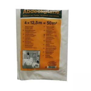 Quality Transparent HDPE Plastic Film 4 X 5m Surface Protection Paint Dust Cover for sale
