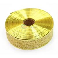 Quality Wholesale Gold Pattern Pearl Yarn Ribbon For Gift Package for sale
