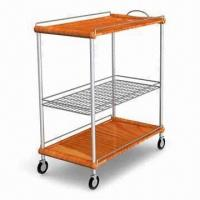 Quality Dining Cart, Solid Wooden Board and Stainless Steel Frame for sale
