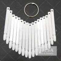 Quality White Stick Fan Shape Round Practice Color Chart Display Nail Tips for sale