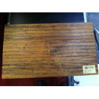 Quality Hot selling strand woven bamboo flooring with hand-scraped suface for sale