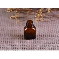 Quality Color Coating Amber Glass Cosmetics Essential Oil Bottle With Dropper for sale
