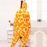 Buy Giraffe Cartoon Flannel Conjoined Pajamas at wholesale prices