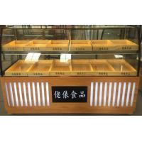 China wooden shelves design cake display cabinet floor stand bread display stand bakery showcase on sale
