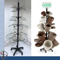 Quality Flowerpots Display Stand / garden pots display rack / Metal Floor Display Stand / round hooks display rack for sale