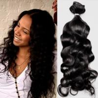 """Quality 10"""" - 22"""" 6A 7A 8A Virgin Brazilian Hair Extensions Unprocessed Natural Color for sale"""