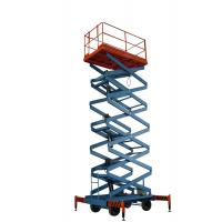 Quality 9m 300kg Four Wheel Self Propelled Hydraulic Platform Mobile Scissor Lift Table for sale