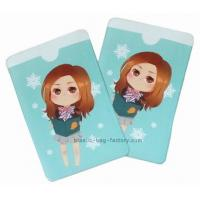 Pretty Pattern Plastic Card Holder 12 Colors Offset Printing Puffy Holder