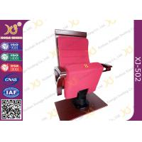 Quality Air Conditioner Out Put Leg Church Hall Chairs With Triangle Wooden Armrest for sale