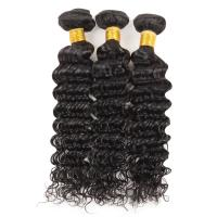 China 100 Grams Indian Human Hair Weave Deep Wave Hair Extensions Real Hair on sale