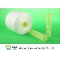 Quality 100% Virgin Polyester Ring Spun Yarn / Dope Dyed Tube Yarn Crease Resistant for sale