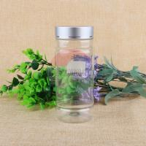 500ml Clear Empty Pet Plastic Screw Sweet Jar For Dried Food