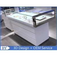 Quality Simple Nice Wooden Glass  Gloss White Jewellery Shop Counter for sale