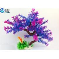 Quality Colorful Plastic Tree Artificial Aquarium Plants Fish Tank Decorations Eco Friendly for sale
