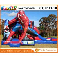 Quality Black and white Inflatable Bouncer Slide / spiderman bouncy jumping castles for sale