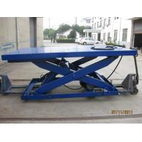 Quality Stationary Type Hydraulic Scissor Lift Table , Manual Lift Table With 500 - 5000 Kg Load for sale