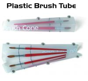 Buy Tough Plastic Paint Brush Tube Artist Painting Portfolio Transparent Type at wholesale prices