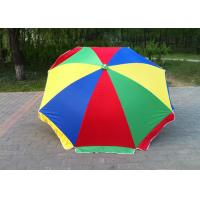 Quality Multicolor 40 Inch Outdoor Parasol Umbrella With Customized Printing Logo for sale