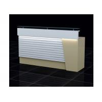 Quality Wood  And Clear Glass Retail Checkout Counter LED Installed Interior 1500 * 500 * 1150mm for sale