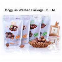 Quality Nut Snack Packaging Standup Food Zipper Pouch With Easy Tearing Notch , Clear Window for sale