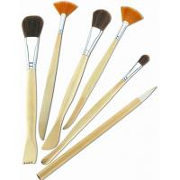 Quality Synthetic & Wool & Mixture Hair Artist Painting Brushes Set Aluminium Ferrule Handle for sale