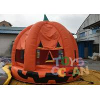 Quality Halloween Inflatable Pumpkin Bouncer Haunted Bouncers / Bouncy Castle For Children for sale