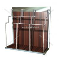 Quality New style stainless fashion displays steel clothes shelf for retail store for sale