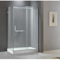 Buy cheap Rectangular shining stainless steel shower enclosure 900*1200 with one sliding from wholesalers